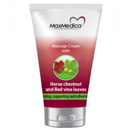 MASSAGE CREAM WITH HORSE CHESTUNT AND READ VINE LEAVES